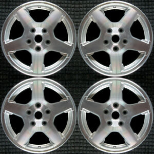 Jeep Grand Cherokee Machined W Silver Pockets 17 Oem Wheel Set 2005 To 2007