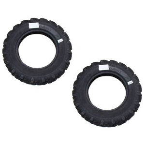 2 6 00 16 600 16 R1 Lugged Tractor Tires 8 Ply 600x16 Fits Ford Deere Massey
