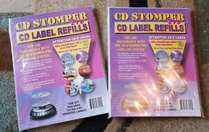 Cd Stomper Pro Cd Label Refills 200 Die Cut Adhesive Labels New Sealed