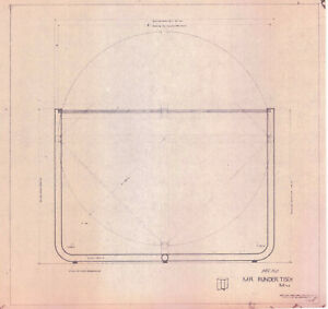 Ludwig Mies Van Der Rohe Furniture Drawing Table Reproduction Print