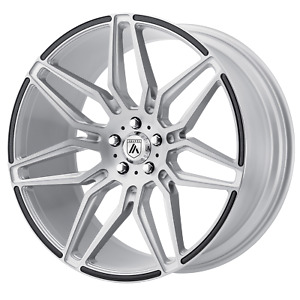 4 Asanti Black Ab11 20x10 5 5x112 38mm Brushed Silver Wheels Rims 20 Inch