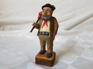 Black Forest Well Clad Hobo Hand Carved And Painted Vintage German Figurine