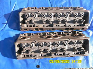 3932441small Block Chevy Cylinder Heads E 27 9 F 3 9 1969 1970 Cleaned Magged