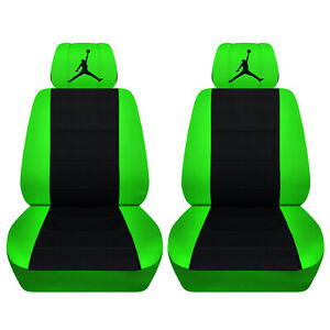 Fits 2014 Ford Mustang Convertible Or Coupe Black And Lime Green Seat Covers