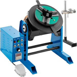 30kg 80w Rotary Welding Positioner Turntable Timing 200mm Chuck Foot Switch 220v