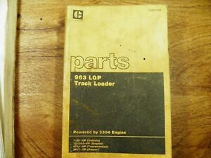 Cat Caterpillar 963 Lgp Parts Manual 11z1 up