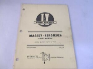 I t Massey Ferguson Mf205 Mf210 Mf220 Shop Service Manual
