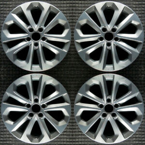 Honda Accord Machined W Light Charcoal Pockets 18 Oem Wheel Set 2013 To 2015