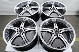 17 Wheels Vw Beetle Rav4 Matrix Corolla Impreza Accord Civic Black Rims 5 Lugs