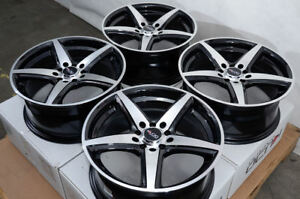 17 Wheels Honda Civic Si Accord Acura Legend Mazda3 Mx 5 Miata Black Rims 5 Lug