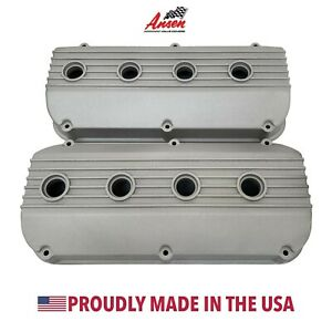 Mopar 392 Hemi All Fins Valve Covers As Cast Die cast Aluminum Ansen Usa