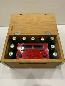 Coca Cola Wood Crate Box Digital Clock Fm/Am Radio