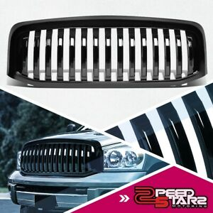 Glossy Vertical Replacement Grille Grill For 2006 2009 Dodge Ram 1500 2500 3500