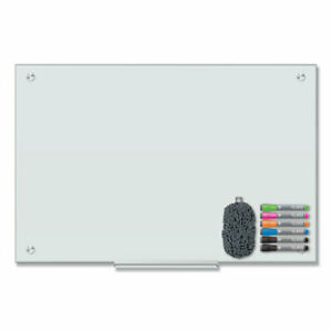 U Brands Magnetic Glass Dry Erase Board Value Pack 36 X 24 White