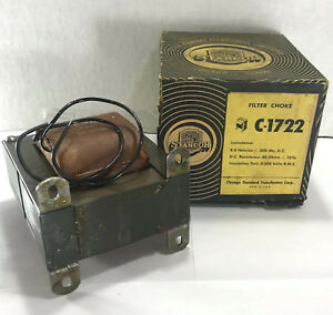 1 New Stancor C 1722 Filter Choke Power Transformer Nib nnb make Offer