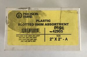 Precision Brand 42905 Slotted Shim Assortment Pk170 2 X 2 A New Old Stock