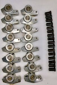 305 327 350 400 Chevy Roller Rocker Arms With 5 8 Studs Stainless Steel