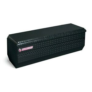 664 5 01 Weather Guard Black Aluminum Full Size Chest Box 62 Truck Toolbox