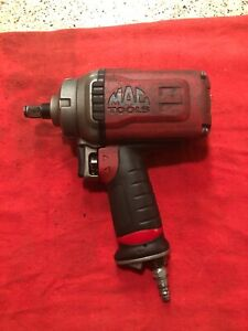 Mac Tools Awp050 Red 1 2 Drive Titanium Air Impact Wrench Usa Used Cond
