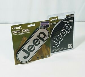 Jeep Wrangler Cherokee Compass Trailer Universal Hitch Cover Aluminum Decal