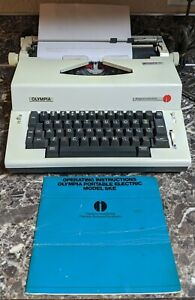 Olympic Report Electric Ske a61 Typewriter Western Germany Tested Vintage Manual