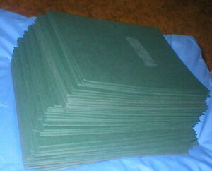 50 Oxford Linen Hunter Green Twin Pocket Portfolios Lot Of 50 Used Vintage 53434