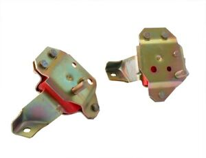 1984 1995 Mustang Gt Lx 5 0 V8 Red Polyurethane Poly Engine Motor Mounts Pair