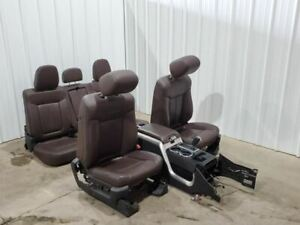 2011 2014 Ford F150 Complete Set Of Brown Leather Platinum Edition Seats