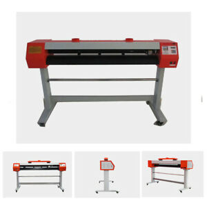 110v 54 Laser Stencil Cutting Cutter Plotter Cloth Co2 Laser Machine 50w Vinyl