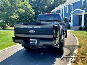 Paintable Black 17 20 Ford Super Duty F250 F350 Tailgate Applique Smooth Finish