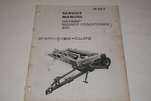 New Holland Sperry 495 Haybine Mower conditioner Service Manual
