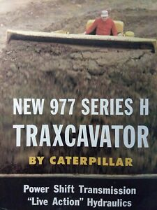 Caterpillar 977 Series H Traxcavator Crawler Tractor Farm Color Sales Brochure