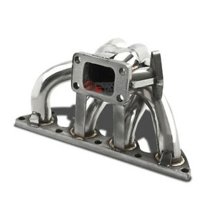 For Honda Acura B Series B16a1 B18 T3 Stainless Steel Turbo Manifold Exhaust Kit