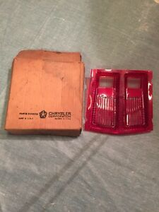 1969 Dodge Dart Nos New Old Stock Right Tail Light Lens Oem With Box