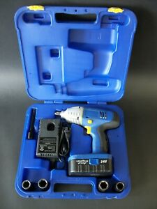 Goodyear 24v Cordless Impact Wrench Set 33609 200ft Lbs 1 2 Drive Exc Condition
