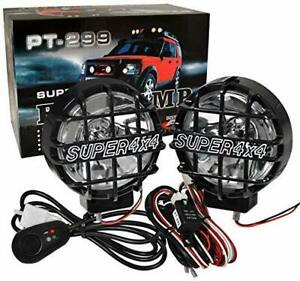 Universal 6 4x4 Off road Round Hid Fog Lights Lamp Wiring Harness Len Guard