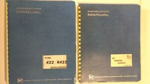 Lot Tektronix Instruction Manual Type 422 R422 Oscilloscope Plus Ac Pwr Suply