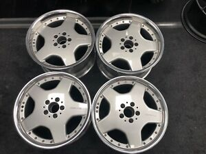 Mercedes Amg Bbs Staggered Wheels 5x112 Refinished 2 Piece Wheels