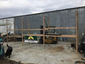 3 Sections Pallet Rack 24 L X 9 T X 42 Deep Slotted 4 Uprights 12 Beams