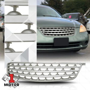 For 2005 2006 Nissan Altima horizontal bar silver Abs Front Bumper Grille grill