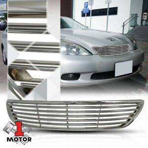 For 2005 2006 Lexus Es330 Horizontal Bar Chrome Abs Front Bumper Grille Grill