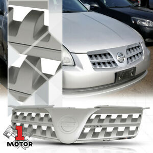 For 2004 2006 Nissan Maxima x mesh Silver Abs Front Upper Bumper Grille grill
