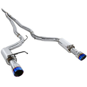 For Mustang 2 3l Ecoboost Catback Exhaust System Stainless Steel Burnt Tip