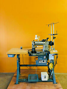 Singer 300 With Synchro Q31 Plus Two Needle Industrial Sewing Machine Tested