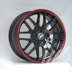 New 19 X 8 5 Black With Red Lip M3 Csl Style Rims Wheels Fits Bmw 3 New Box
