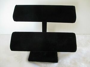 Black Oval Double T Bar Display For Bracelets watches chains 7 1 2 X 7