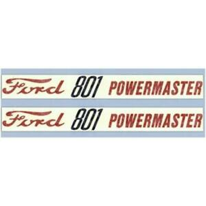 Hood Decal Set Fits Ford New Holland 801 Powermaster 800 Series Tractor F521h