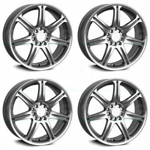 16x7 Xxr 533 5x100 5x114 3 38 Silver Machined Wheels Rims Set 4