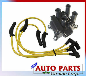 Ignition Wires Ignition Coil Ford Focus L4 2 0l 00 01 02 03 04 Vin P Sohc Only
