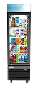 1 Door Glass Commercial Refrigerator Merchandiser Beverage Cooler 13 Cu